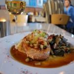 Char-Grilled Pork Chop w/ country ham stewed collard greens